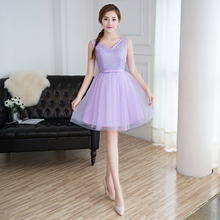 Sweat lavender short lady girl women princess banquet party ball dress gown (China) 4eaaf8d310b4