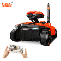 Global Drone RC Tank 1:18 Scale Electric Toys Wifi Android And Apple Phone Control Remote Tanks WIFI Rover Tank With Camera