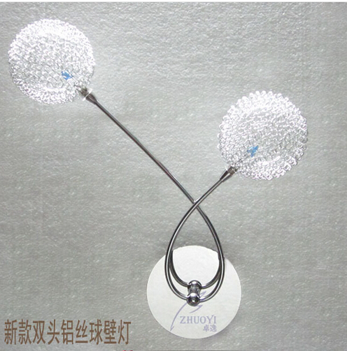 New fashion LED wall lamp aluminum wire ball wall lamps wrought iron wall lights for study bedroom coffee bar counter