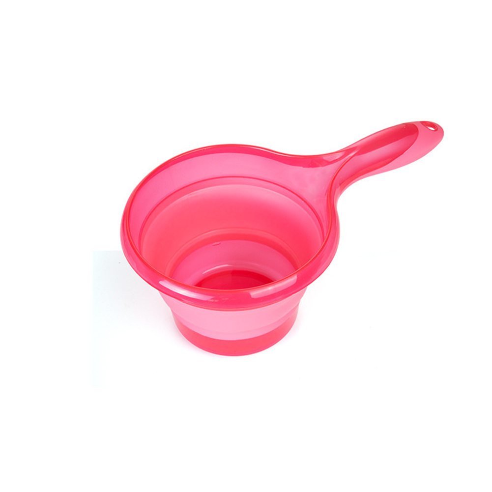 СКЛАДНОЙ КОВШ для воды складная ложка кухня ванная комната Совок Ванна Душ Стиральная 899 - Цвет: Розовый