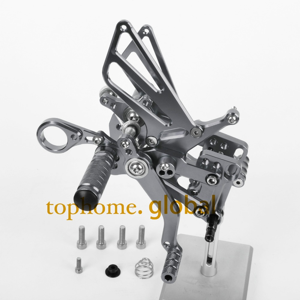 Motorcycle Parts Dark Gray CNC Rearsets Foot Pegs Rear Set For BMW S1000RR 2012-2013 2014 New motorcycle foot pegs