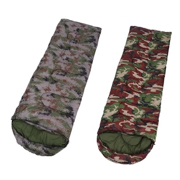 Outdoor Adult Cotton Camping Sleeping Bag Envelope Style Camouflage Warm Waterproof Travel Hooded Sleeping Bags 2