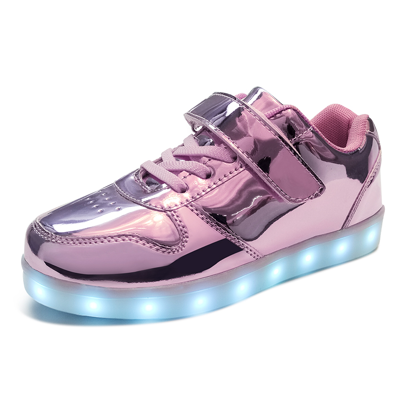 Led luminous Shoes For Boys girls Fashion Light Up Casual kids 7 Colors USB charge new simulation sole Glowing children sneakers modern semi circular glass shade pendant lamp led edison bulb pendant light fixture for kitchen lights dining room bar e27 220v