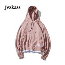Jvzkass 2019 ใหม่ Unisex ผู้หญิงตีง่ายสี oversize หลวม hooded ผู้หญิงเกาหลี hoodies ฤดูใบไม้ร่วง Z43