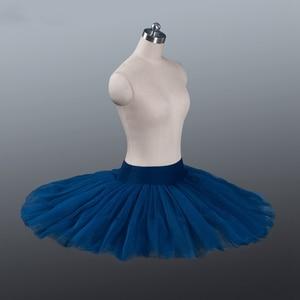 Прочная черная профессиональная балетная юбка-пачка из тюля, профессиональная балетная пачка, блинная юбка для репетиции, балетная юбка-па...