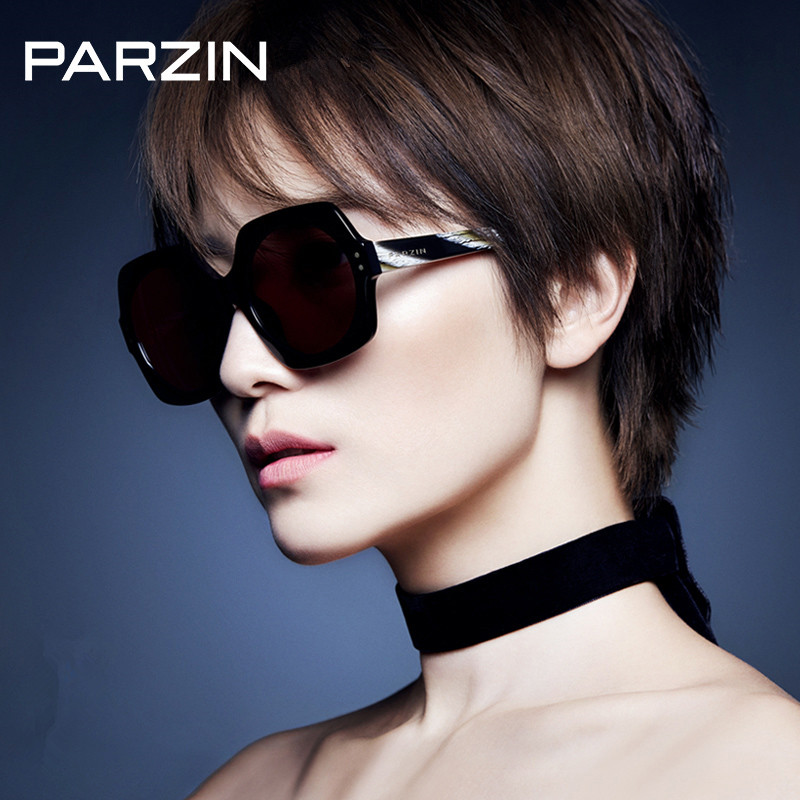 Parzin Sunglasses Vintage Polarized Sunglasses Women Oversized Hand MadeFemale Sun Glasses Ladies