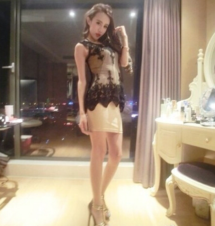 Women Fashion Embroidery Black Lace Blouses Disk Floral Sexy Hollow Vest Retro Asymmetry Pullover Tops  Free Shipping3050