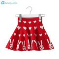 Grandwish Girls Mini Skirts Knitted Skirts for Girls Kids Tutu Skirt Ruffles High Stretch Knit Skirt Autumn Winter 4T-16T,SC704