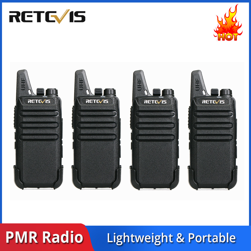 4 pcs RETEVIS RT622 RT22 Mini Walkie Talkie PMR Radio PMR446 446 FRS VOX Rechargeable Two