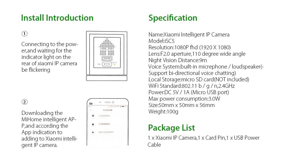 Original Xiaomi CCTV Mijia Xiaofang 110 Degree F2.0 8X 1080P Digital Zoom Smart Camera IP WIFI Wireless Camaras Cam Night Vision (1)