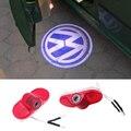 2 pçs/set LED Porta Logo Luz Do Projetor Santo Sombra Luz Para VW Caddy Touran Besouro bora Golf 4 MK4