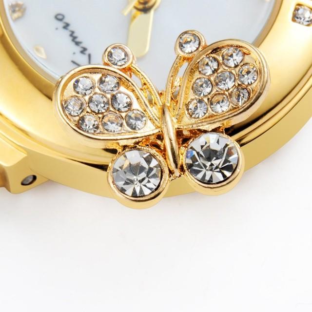 Korea Luxury Brand Butterfly Pearls Bracelet-Wristwatch – Ladies Fashion Dress Quartz Kimio Brand Watch