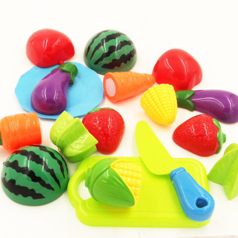 10PC /Set Plastic Kitchen toy Fruit Vegetable Cutting Kids Pretend Play Toy Educational Cook Cosplay kitchen toys