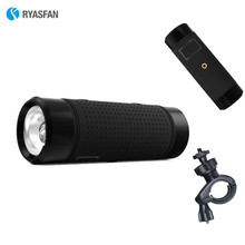 RYASFAN Wireless Bluetooth Stereo Speaker Mini Portable Outdoor Power Bank FM TF Flashlight Waterproof Bicycle for Xiaomi iPhone