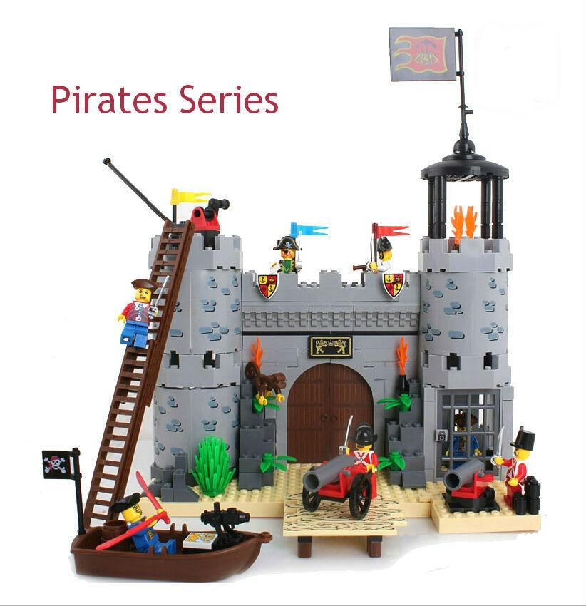 ФОТО Enlighten 310 Educational DIY Pirates Series Corsair-Rob Barrack 366pcs Assembles Particles Building Blocks Bricks Gift diy toys