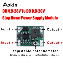 Ultra-small Mini Dc-dc Step Down Power Supply Module 3a Adjustable Buck Converter For Arduino Replace Lm2596 24v To 12v 9v 5v 3v(China)
