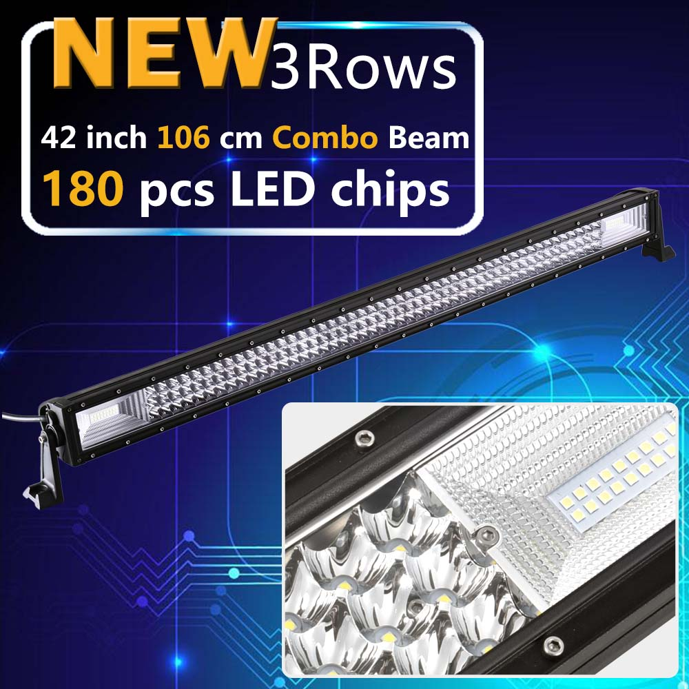 Real Power 42 Inch 3 Rows Led Work light Led Bar for Off Road 4x4 4WD ATV UTV SUV Driving Light Truck Led Light Bar Auto Lamp 234w 78 high power cree led work light bar 35 inches led light bar for truck boat atv suv 4wd