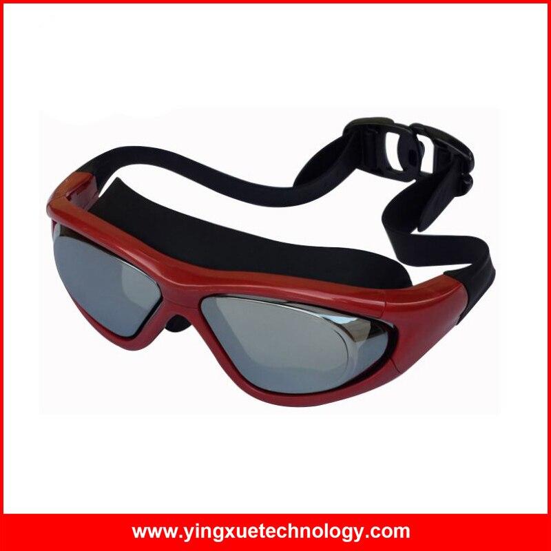 d7f35e651 Anti-vaho y protección UV gafas de natación con silicona suave y durable  correa de cabeza y sistema de ajuste rápido para adultos