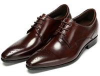 Fashion Height Increasing Oxfords Shoes Mens Business Shoes Genuine Leather Dress Shoes Mens Wedding Shoes Grow