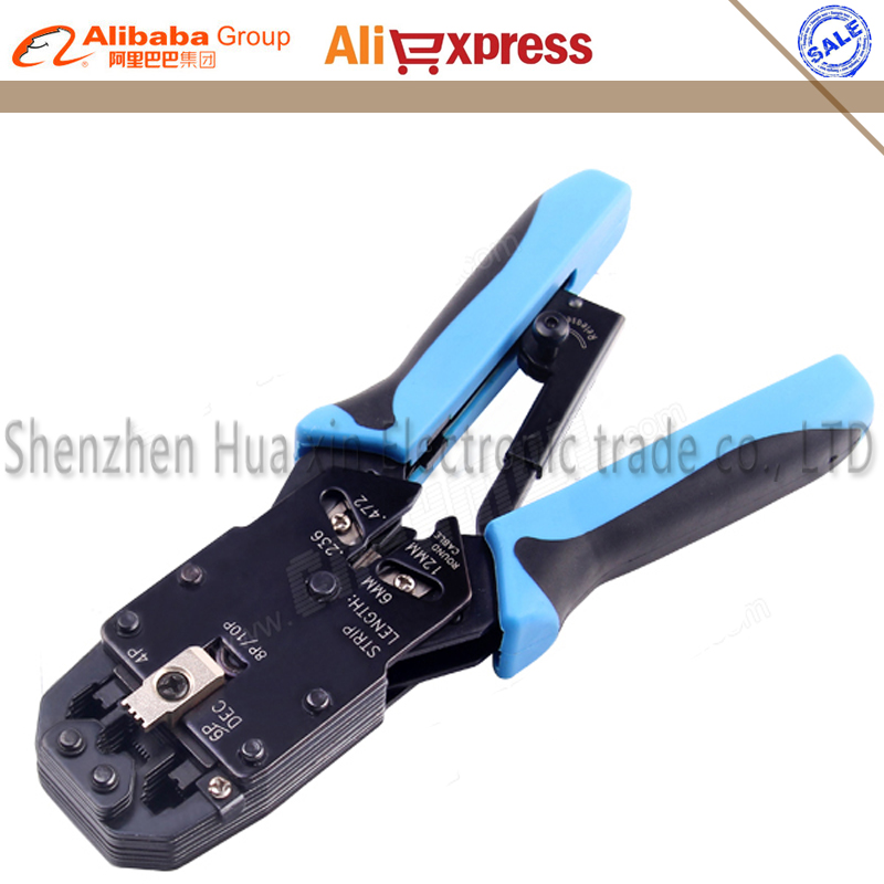 4 in 1 Multifunction Tool RJ48 RJ45 RJ11 RJ12 Wire Cable Crimper Crimp PC Network Hand Tools Ratchet Ethernet Crimping Tool pz0 5 16 0 5 16mm2 crimping tool bootlace ferrule crimper and 1k 12 awg en4012 bare bootlace wire ferrules