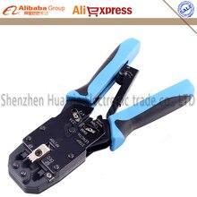 4 в 1 многофункциональный инструмент RJ48 RJ45 RJ11 RJ12 кабель щипцы обжимные сети ручной трещоточный Ethernet обжимное