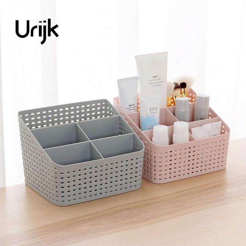 Urijk Makeup Organizer Storage Box Desk Office Organizer Cosmetics Skin Care Plastic Storage Drawer Jewelry Box Drop Shipping