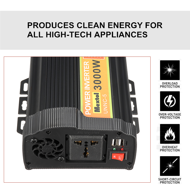 US $65.88 46% OFF|3000W Power Inverter 12 V to AC 220 Volt LCD Digital on
