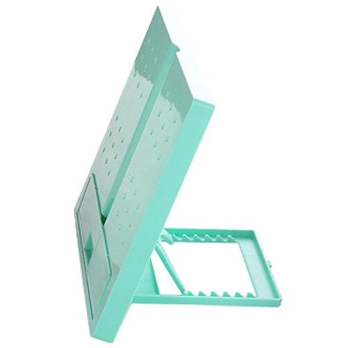 5PACKS Hot JIELISI 754 square folding type reading computer typewriter document file rack green