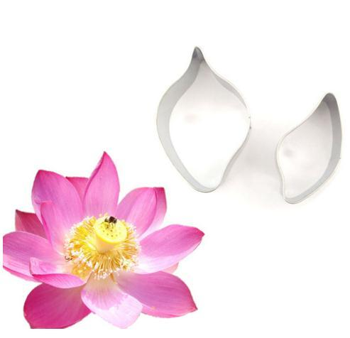 2pcs Lotus Flowers Shape Stainless Steel For Cake Cupcake Decorating