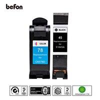 befon Compatible 45 78 Cartridges Replacement for HP 45 78 HP45 HP78 Ink Cartridge Deskjet 180 280 1220c 3810 3816 3820 3822