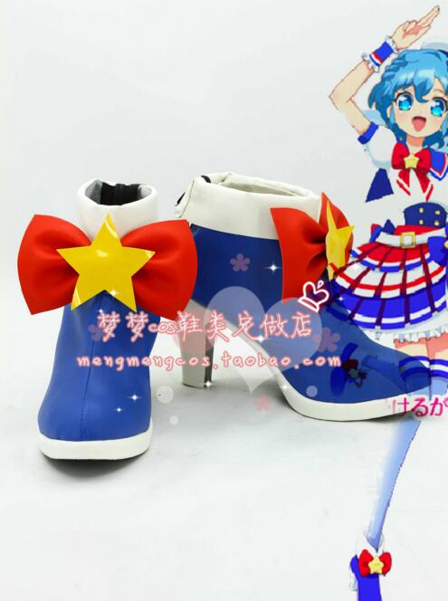 Pretty Rhythm Puripara Manaka Lala purple Halloween lolita punk girls cosplay costume boots lolita shoes