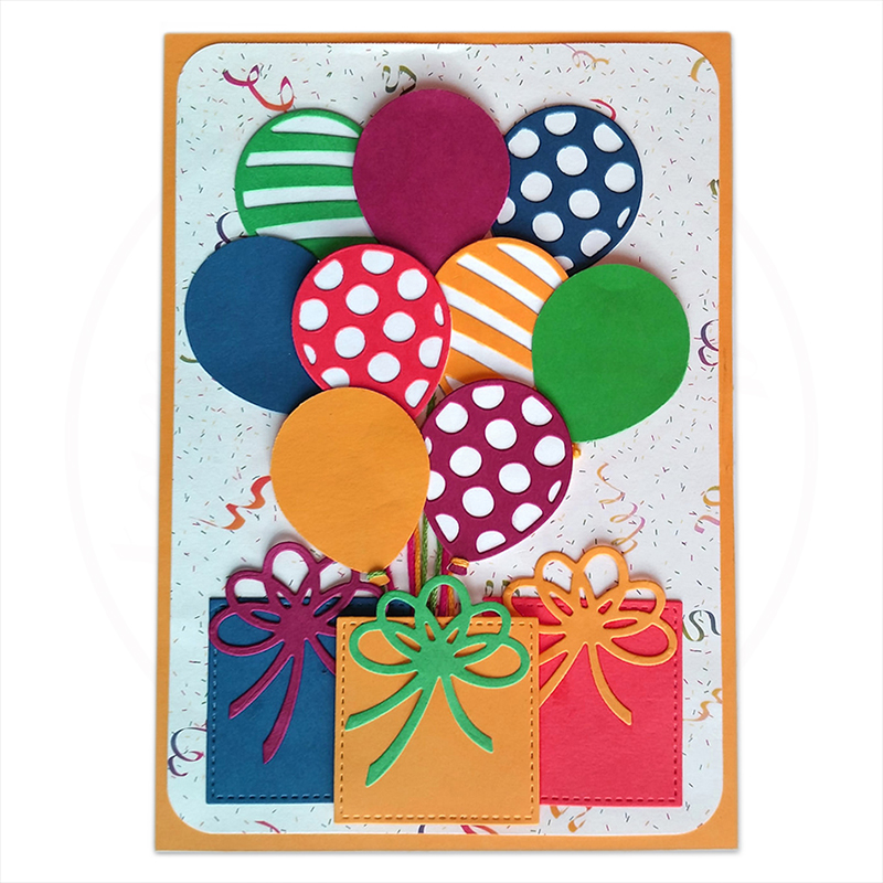 Thobu Balloon Cutting Dies Stencil DIY Scrapbooking Embossing Album Paper Card Crafts