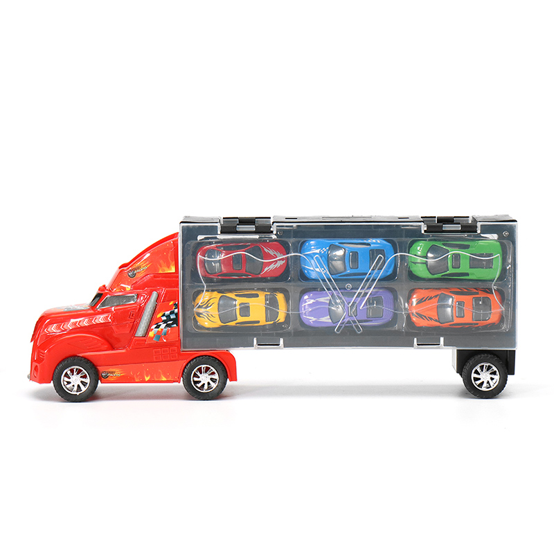New Arrival DiBang Container Truck With 12 Alloy Car Puzzle Simulation Car Model Chess Sound Toy Gift