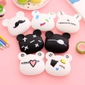 RU&BR Creative Design Women Coin Purse Fashion Silicone Money Bag Kids Gifts Korean Style Coin Packet Women Key Wallet