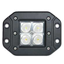 цена на ECAHAYAKU 12W 4 inch led work light bar Spot Flood beam Off-road Light for car jeep Truck 4wd 4x4 Tractor bar fog driving lamps