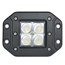 ECAHAYAKU 1x 12W led working lights Car Styling Spot Flood Off-road Light for Truck Flush Mount External Tractor bar