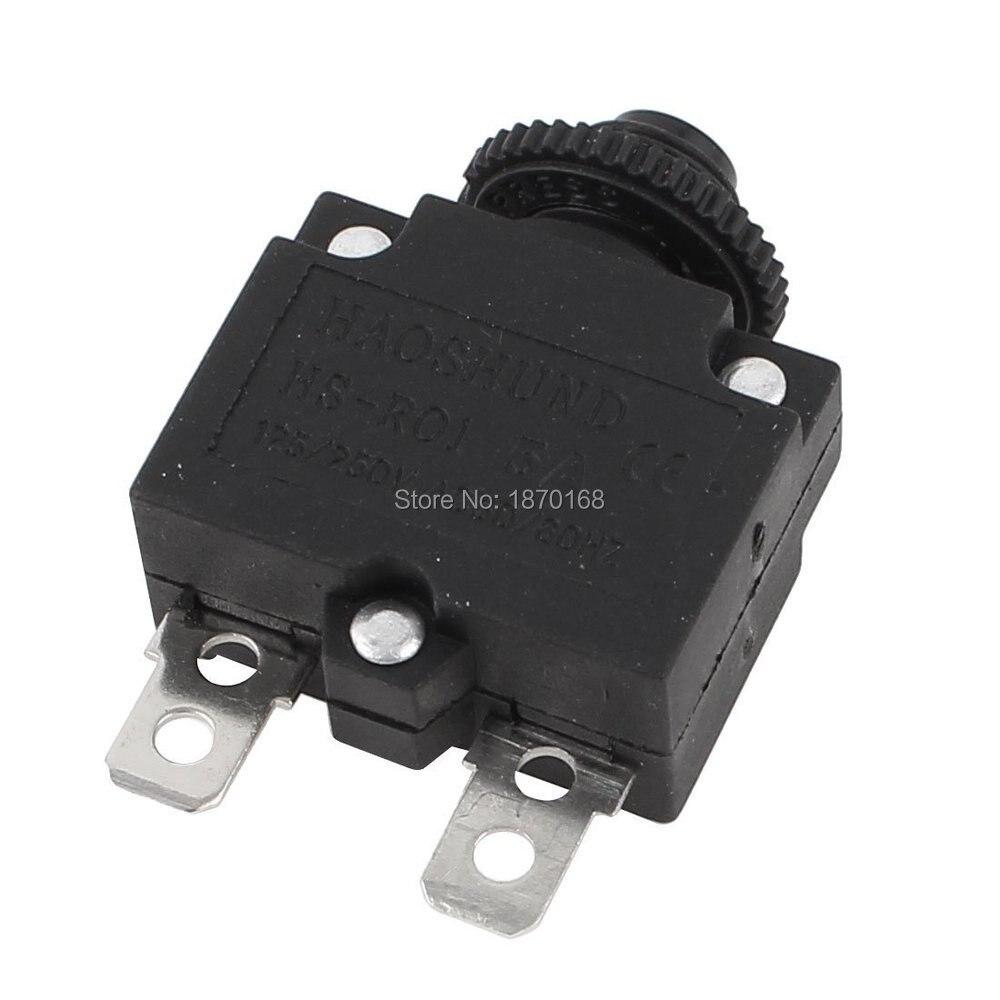 Hs R01 10A AC125/250 V 5A koruma devresi aşırı yük koruyucu siyah