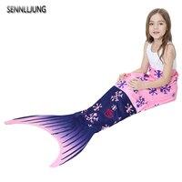 NIEUWE 13 Kleuren Mooie Meisje Kind Mermaid Breien Airconditioning Sofa Slapen Deken Mermaid Deken Super Zachte Antipilling