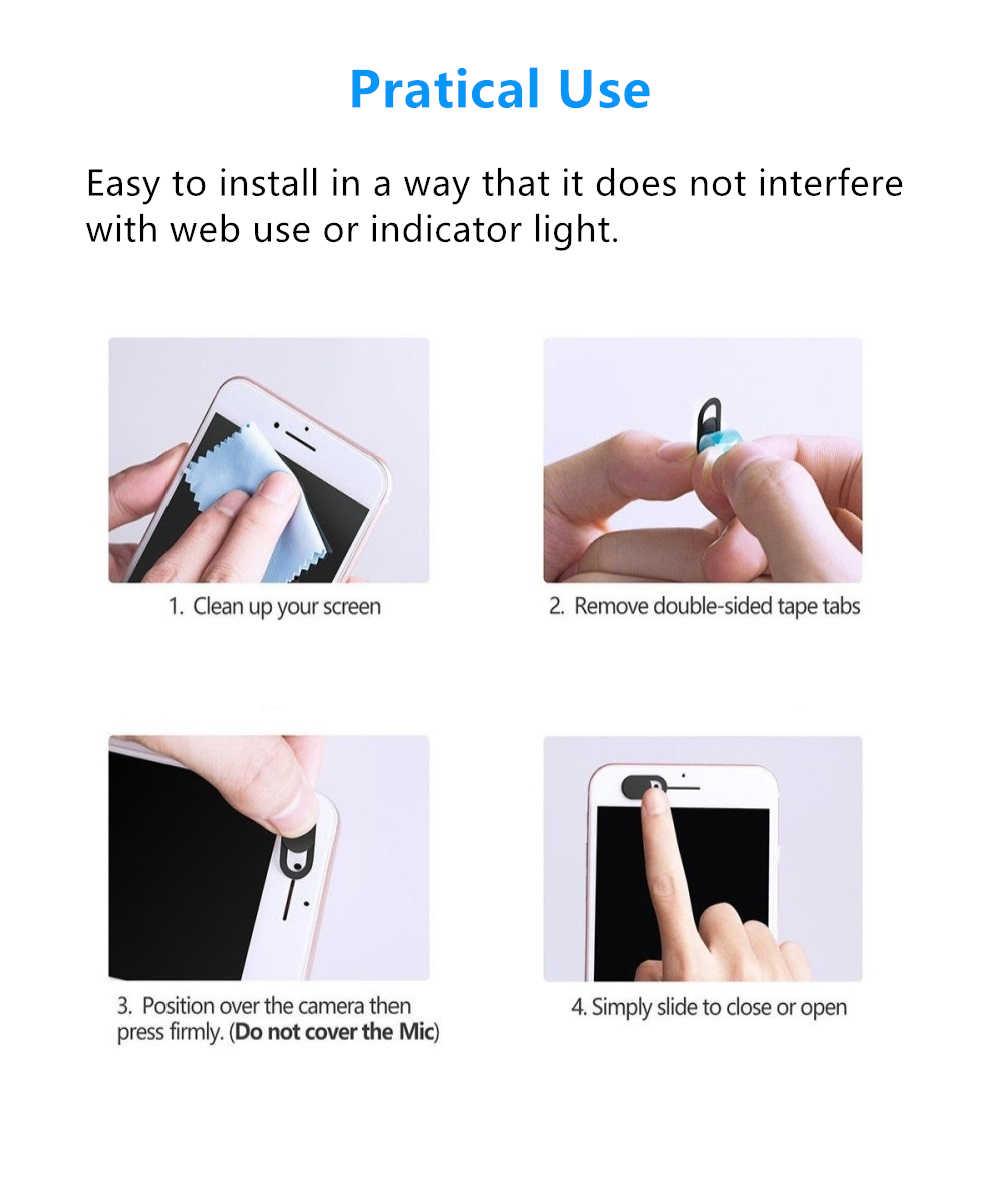 3 מארז Webcam כיסוי אולטרה דק Slider עבור מחשב נייד iPad Macbook Mac Tablet כל-desktop מצלמה כיסוי תריס פרטיות מדבקה