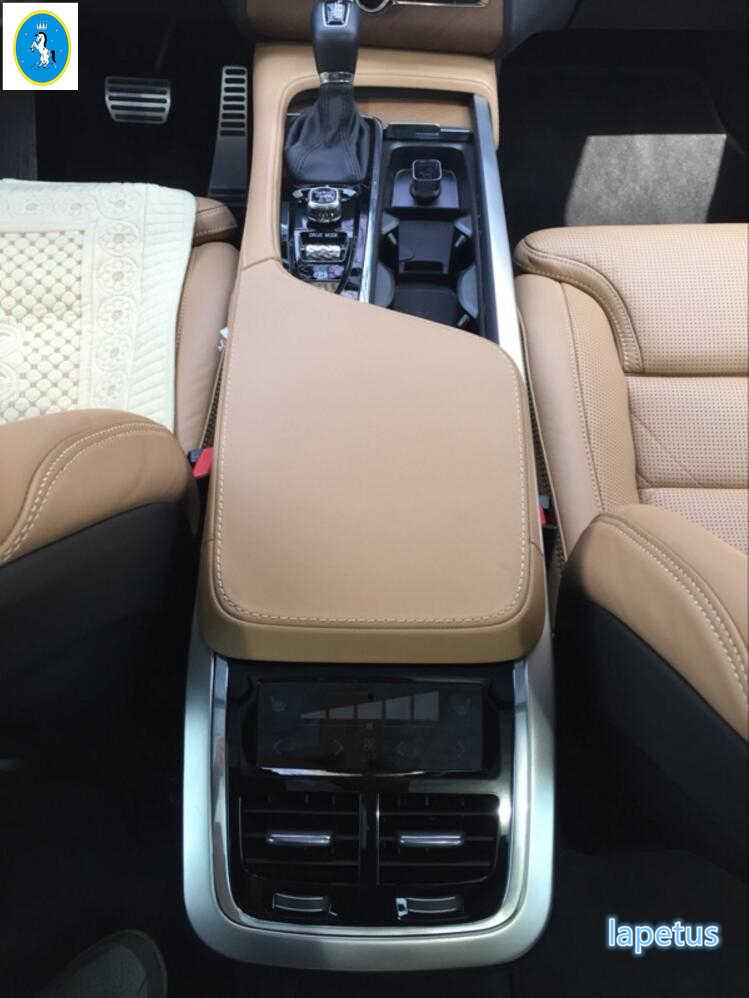 Inner Gear Shift Armrest Storage Box Stripe Cover trim For Volvo XC90 2016-2020