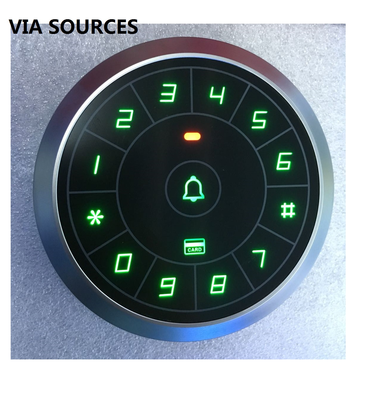 Fress Shipping Circular Touch Button 125KHz Rfid Card Reader Door Access Controller System Password Keypad C80 original access control card reader without keypad smart card reader 125khz rfid card reader door access reader manufacture