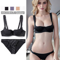 Luxury Satins Seamless Push Up Lace Bra Set/panties/ Sexy Lingerie  Free Shipping  yw111
