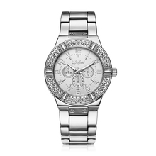 Reloj Relojes Mujer Vestido Reloj de Cuarzo de Acero LVPAI Diamantes de lujo Señoras Del Reloj de Oro Reloj de Pulsera relogio feminino