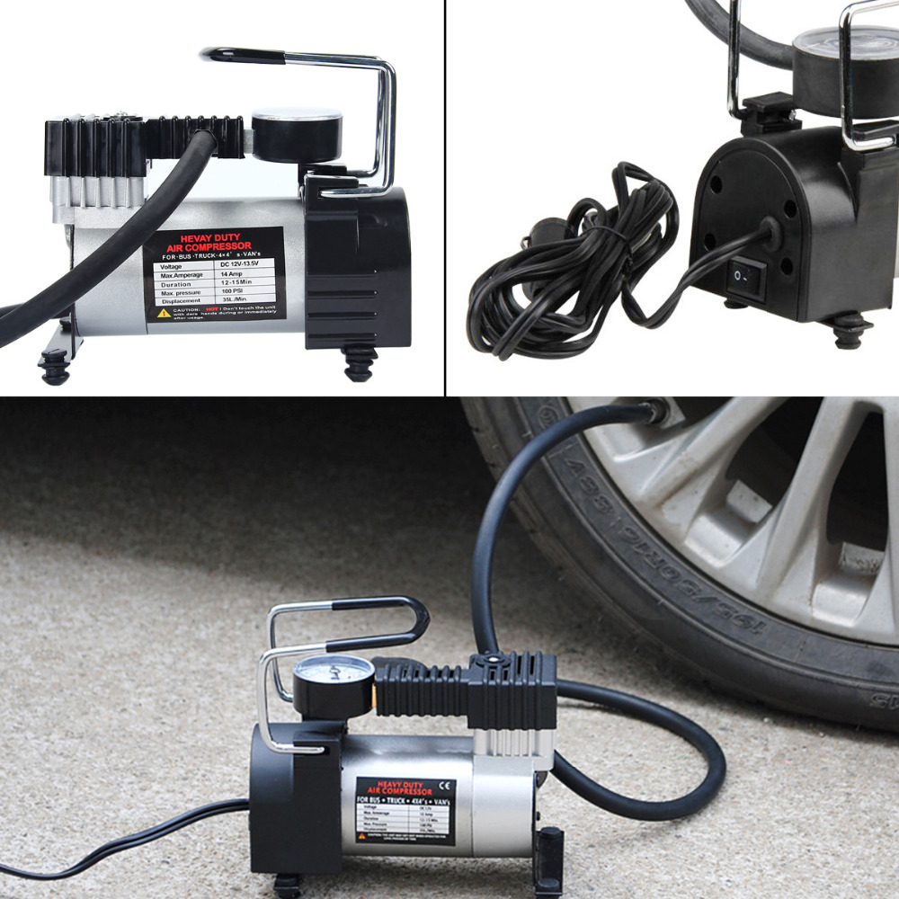 DC12V Portable Car Electric Tire Inflator Pump Air Compressor 150PSI Electric Tyre Inflator Pump for Auto Bicycles Motorcycles cnikesin 12 volt car portable air compressor pump digital tire inflator 150 psi dc tire inflator for car motorcycles bicycles