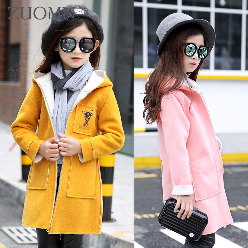 Children Windbreaker Baby Girl Kids Jackets For Girls Coat Fashion Lovely Deerlet Clothing Casual Pink Outerwear Jacket GH214