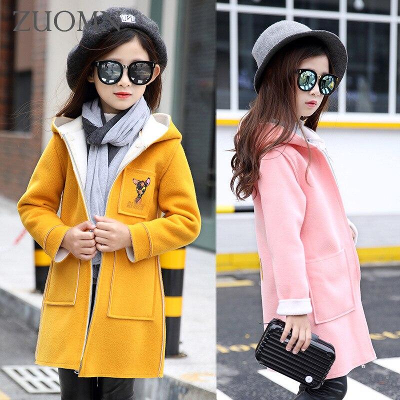 Children Windbreaker Baby Girl Kids Jackets For Girls Coat Fashion Lovely Deerlet Clothing Casual Pink Outerwear Jacket GH214