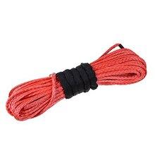 Corde de treuil hors route extrême de Fiber UHMWPE rouge de 14 MM 30 M 12 brins avec des yeux dépissure les deux extrémités