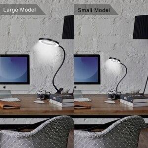 Image 5 - Гибкая лампа NEWACALOX 3X/5X USB, 3 цвета, увеличительное стекло с прищепкой, настольный светодиодный увеличительный объектив для чтения, увеличительное стекло с подсветкой
