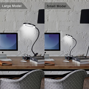 Image 5 - NEWACALOX Flexible 3X/5X USB 3 Colors Lamp Magnifier Clip on Table Top Desk LED Reading Large Lens Illuminated Magnifying Glass