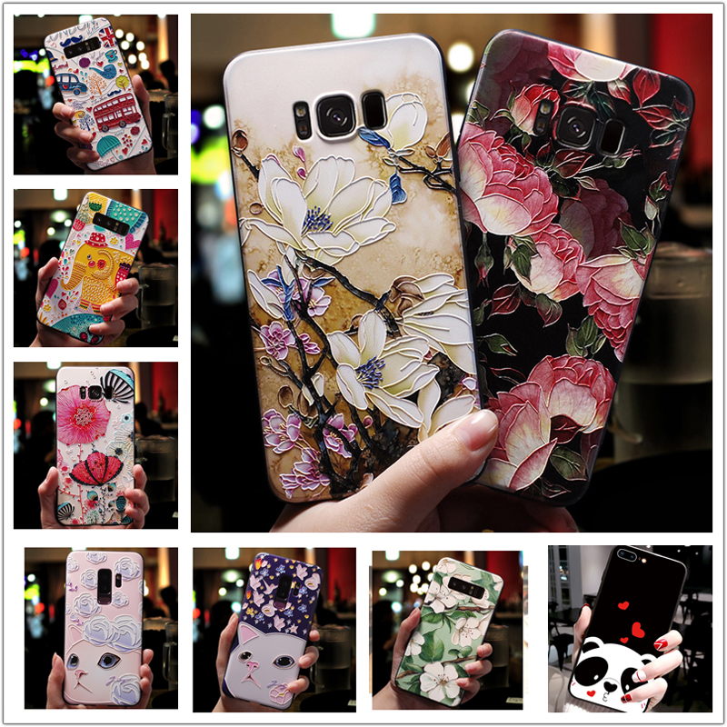 For OPPO RX17 Neo Case 3D Flower Emboss Soft Silicone Phone Back Cover For OPPO Realme X A37 A7 AX7 A59 F1S A53 A33 A39 A57 Case image